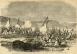 Sioux War, cavalry charge of Sully's brigade at the Battle of White Stone Hill, September 3, 1863