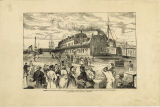 Sarnia: Icelanders leaving the railway station at Point Edward, for the steamer Ontario, on their way