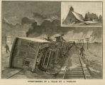 Overturning of a train by a tornado