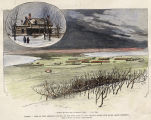 Dakota , view of Fort Abraham Lincoln on the west bank of the Missouri River, five miles below Bismarck