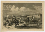 Stampede of Sioux Indians at Fort Union, at mouth of the Yellow Stone River, Dacotah Territory
