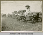 Motor parade at fair, Valley City, N.D.