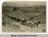 Caravan of tourists, Billings County, N.D.