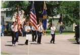 Minto American Legion and Auxiliary in parade, Minto, N.D.