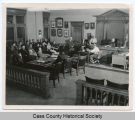 Old courtroom jury, Casselton, N.D.