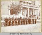 Fargo Police bicycle squad in front of old post office, Fargo, N.D.
