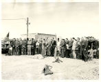 A crowd at the Bismarck Junior College Schafer Heights groundbreaking, Bismarck, N.D.