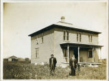 Oscar and Hans Langseth home, Barney, N.D.