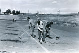 Circle K Members clean parking lot, Bismarck, N.D.