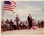 Sidney J. Lee and Harold Schafer at Bismarck Junior College ground breaking ceremony, Bismarck, N.D.