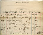 Keystone Land Company document