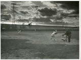 Baseball action shot, Enderlin, N.D.