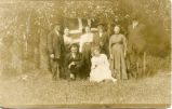 Gullickson Family with Norwegian flag, Enderlin, N.D.
