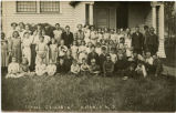Students at school in Amenia, N.D.