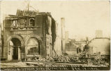 First National Bank of Lidgerwood wrecked by fire, Lidgerwood, N.D.