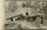 Children playing in snow, Hickson, N.D.