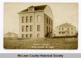 Side view of third McLean County Court house, Washburn, N.D.