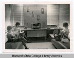 Dorm room at Bismarck Junior College, Bismarck, N.D.