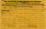 Western Union Telegram from Theodore Roosevelt