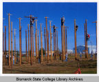 Bismarck State College vocational students at educational site near Mandan, N.D.