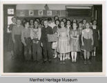 Manfred School class of 1954-55, Manfred, N.D.