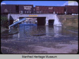 Main street underpass after flash flood, Velva N.D.