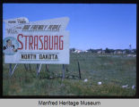 Highway 83 sign near Strasburg, N.D.