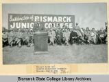 Ground breaking for Bismarck Junior College campus on North Dakota Capitol grounds, Bismarck, N.D.