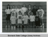 Women's volleyball team at Bismarck State College, Bismarck, N.D.