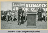 Groundbreaking at Bismarck Junior College building site on North Dakota Capitol grounds, Bismarck...