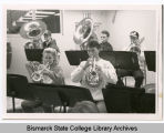 Students playing instruments at Bismarck State College, Bismarck, N.D.