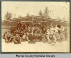 Logging camp, Mercer County, N.D.