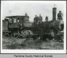 Northern Dakota Railway Line locomotive engine, Pembina County, N.D.