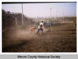Joe Gustafson at the rodeo, Mercer County, N.D.