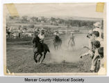 Cowgirl horse race, Beulah, N.D.
