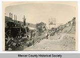 Wreckage after tipple fire, Beulah, N.D.
