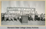Governor Brunsdale speaks at groundbreaking for Bismarck Junior College campus on North Dakota...