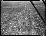 Aerial looking east over downtown Fargo, N.D.