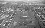 Aerial over Concordia football stadium, Oct. 26, 1966