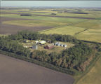 Aerial over Gary Kittelson farm, Section 11, Finnegan Township, Rolette County, N.D.