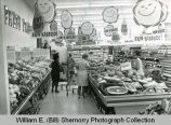 Grocery store produce aisle, Williston, N.D.