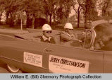 Williston's 25th Anniversary of Oil Discovery Celebration, Jerry Christianson in parade, N.D.