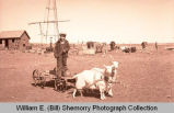 Boy with goat, Williston, N.D.