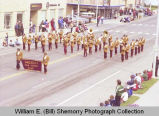 Band Day parade 1981, Grenora High School band, Williston, N.D.