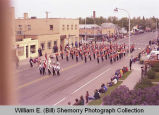 Band Day Parade 1981, Williston High School band, Williston, N.D.