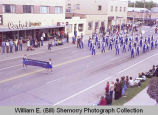 Band Day parade 1981, Bainsville High School marching band, Williston, N.D.