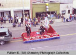Band Day parade 1981, Knights of Columbus No. 1798, Williston, N.D.