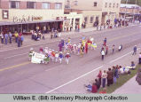 Band Day parade 1981, Yvette Sparks dancers, Williston, N.D.