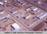 Williston aerial photograph, businesses, N.D.