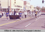 Band Day parade 1984, Trenton School Band, Williston, N.D.